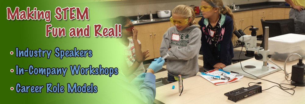 Making Science, Technology, Engineering and Math fun! stem steam classes camps after school track out industry speakers in-company workshops career role models