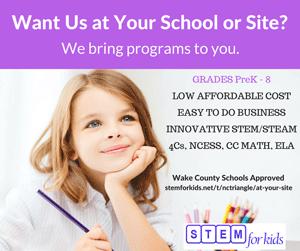 STEM STEAM In school field trips, afterschool programs at your site