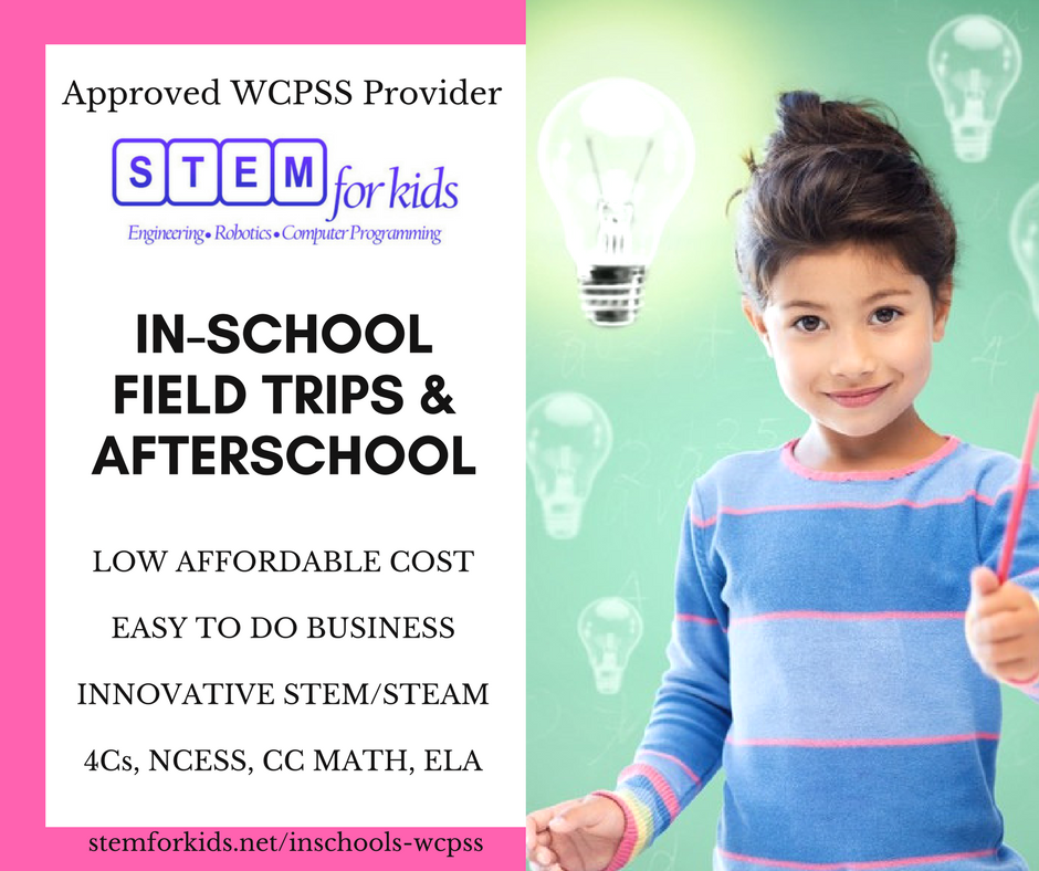 Approved WCPSS vendor for in school field trips and afterschool programs