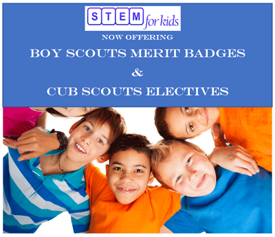 Now Offering Boy Scouts Merit Badge and Cub Scout Electives. Request programs now.