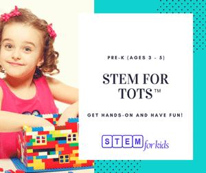 STEAM / STEM programs for tots preschoolers ages 3 - 5